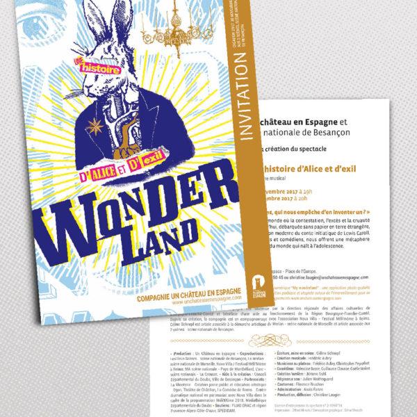 Wonderland invitation
